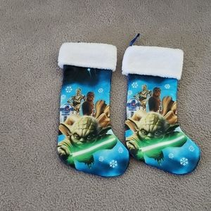 Set of Two Star Wars Christmas Stockings